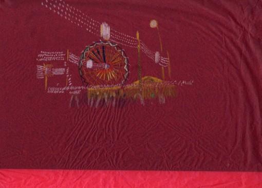 Feria de Sevilla. Lápices de colores sobre papel de celofan