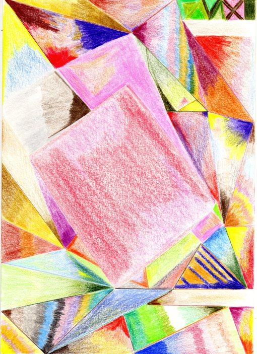boogie de la mecedora.Lápices de colores